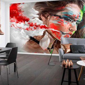 پوستر دیواری تصویر چهره زن کد z-10459