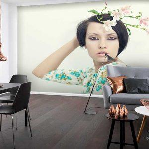 پوستر دیواری تصویر چهره زن کد z-10648
