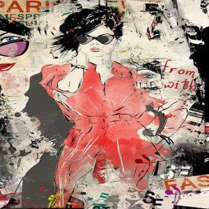 پوستر دیواری تصویر چهره زن کد z10996 - posteronline.co