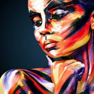 پوستر دیواری تصویر چهره زن کد z-10451