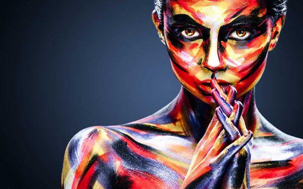 پوستر دیواری تصویر چهره زن کد z-10472