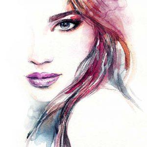 پوستر دیواری تصویر چهره زن کد z-10496