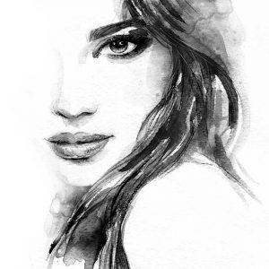 پوستر دیواری تصویر چهره زن کد z-10497