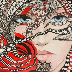 پوستر دیواری تصویر چهره زن کد z-10539