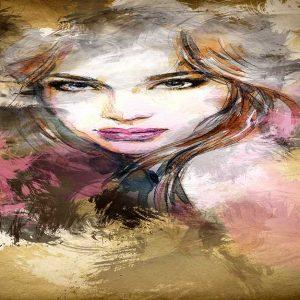 پوستر دیواری تصویر چهره زن کد z-10556