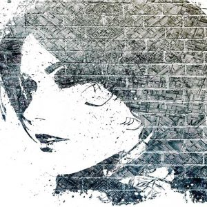 پوستر دیواری تصویر چهره زن کد z-10621