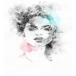 پوستر دیواری تصویر چهره زن کد z-10641