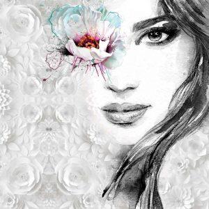 پوستر دیواری تصویر چهره زن کد z-10697