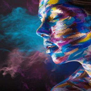 پوستر دیواری تصویر چهره زن کد z-10991