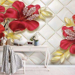 پوستر دیواری گل سه بعدی کد G-3068