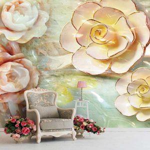 پوستر دیواری گل سه بعدی کد G-3602