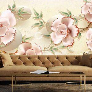 پوستر دیواری گل سه بعدی کد G-3605