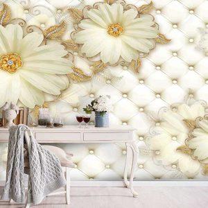 پوستر دیواری گل سه بعدی کد G-3607