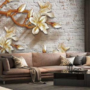 پوستر دیواری گل سه بعدی کد G-3609