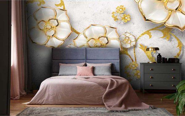 پوستر دیواری گل سه بعدی کد G-3639
