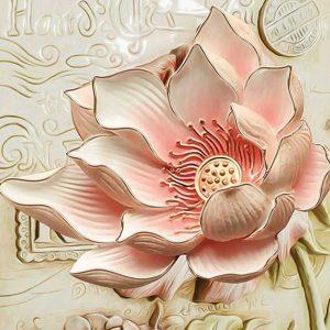 پوستر دیواری گل سه بعدی کد G-3603