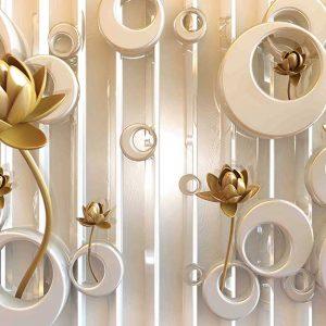 پوستر دیواری گل سه بعدی کد G-3606