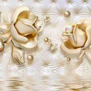 پوستر دیواری گل سه بعدی کد G-3617