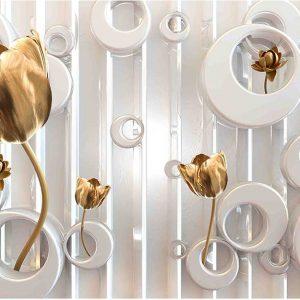 پوستر دیواری گل سه بعدی کد G-3641