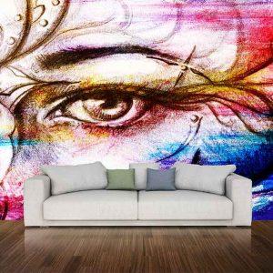 پوستر دیواری چشم و لب u-14311