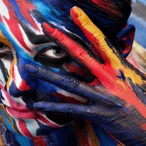 پوستر دیواری چشم و لب u-14325