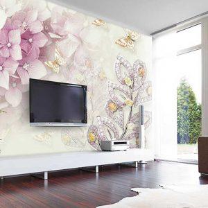 پوستر دیواری گل سه بعدی کد G-3708