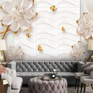 پوستر دیواری گل سه بعدی کد G-3728