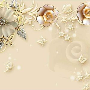 پوستر دیواری گل سه بعدی کد G-3709