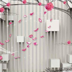 پوستر دیواری گل سه بعدی کد G-3727