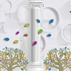 پوستر دیواری گل سه بعدی کد G-3732