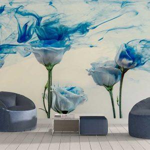 پوستر دیواری گل های کاغذی کد f-8500