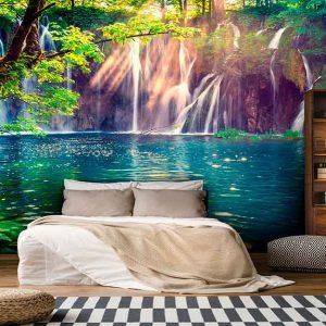 پوستر دیواری منظره آبشار کد n-7708