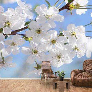 پوستر دیواری گل های بهاری کد F-8163