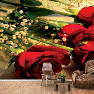 پوستر دیواری گل های بهاری کد F-8164