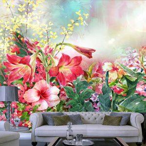پوستر دیواری گل های بهاری کد F-8174