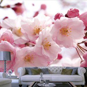 پوستر دیواری گل های بهاری کد F-8318