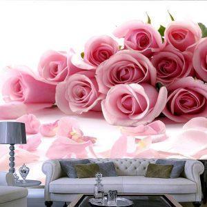پوستر دیواری گل های بهاری کد F-8322