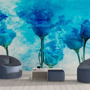 پوستر دیواری گل های کاغذی کد F-8501