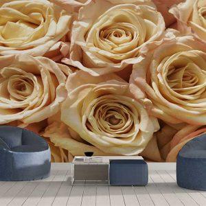 پوستر دیواری گل های کاغذی کد F-8502