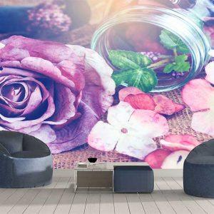 پوستر دیواری گل های کاغذی کد F-8505
