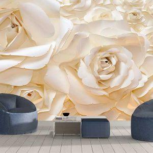 پوستر دیواری گل های کاغذی کد F-8506