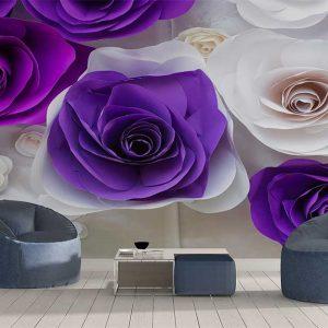 پوستر دیواری گل های کاغذی کد F-8507
