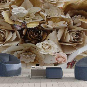 پوستر دیواری گل های کاغذی کد F-8508