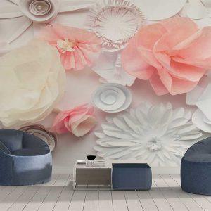 پوستر دیواری گل های کاغذی کد F-8509