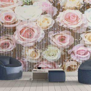 پوستر دیواری گل های کاغذی کد F-8511