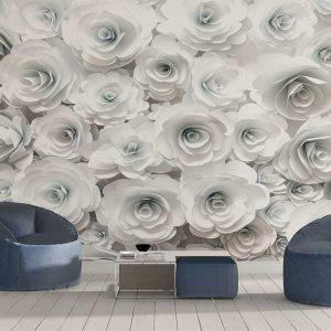 پوستر دیواری گل های کاغذی کد F-8512
