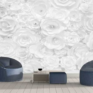 پوستر دیواری گل های کاغذی کد F-8513