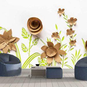 پوستر دیواری گل های کاغذی کد F-8519