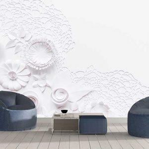 پوستر دیواری گل های کاغذی کد F-8520