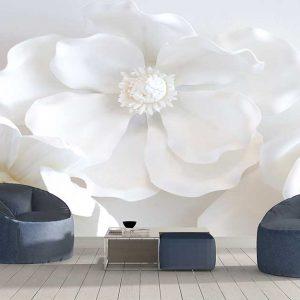 پوستر دیواری گل های کاغذی کد F-8521